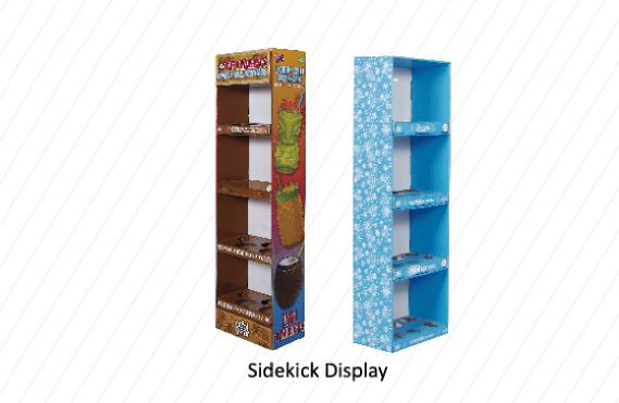 Cardboard Sidekick Display Unit