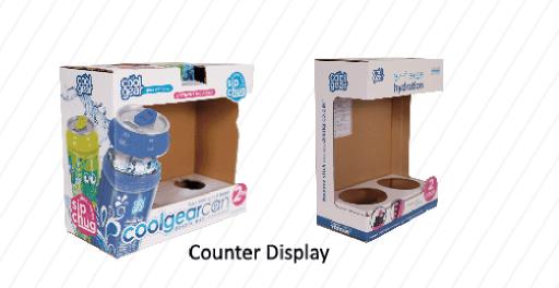 Paper Counter Top PDQ Display Rack