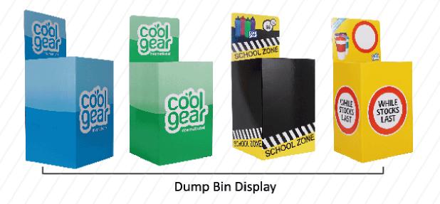 Corrugated Dump Bins Display